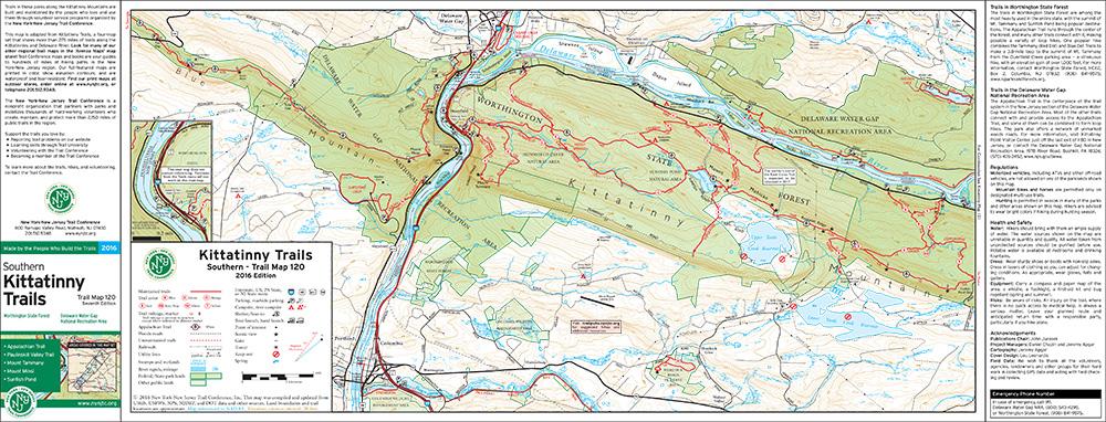 120 - Kittatinny (South 1: Worthington, Delaware Water Gap) - 2016 - Trail Conference