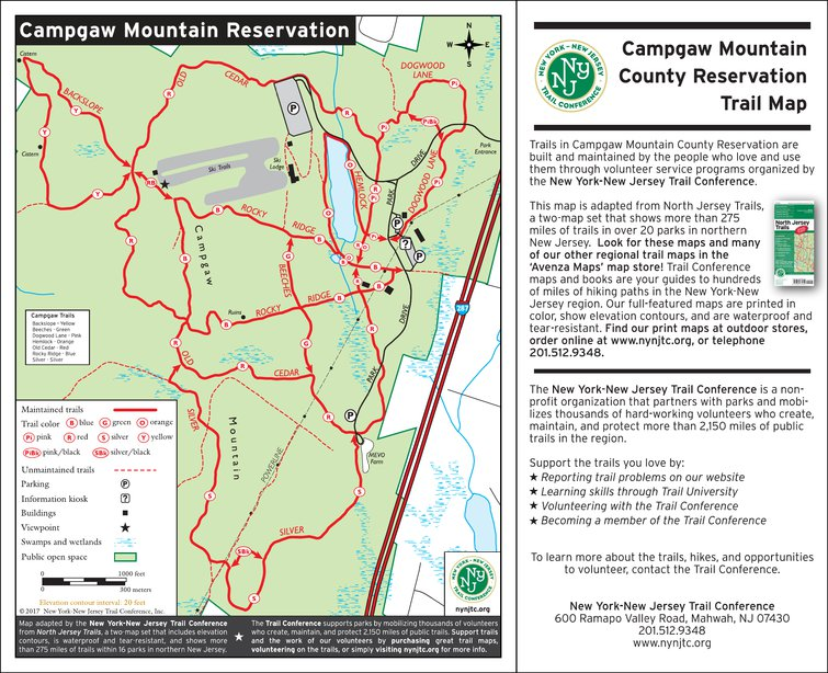 Campgaw Mountain County Reservation, NJ - New York-New Jersey Trail ...