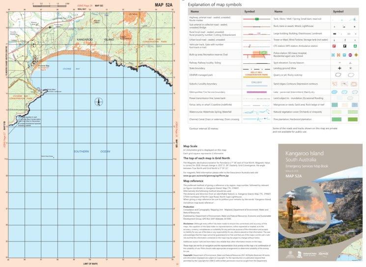 Map Of Australia Kangaroo Island.Kangaroo Island Map 52a Mapland Department For Environment And