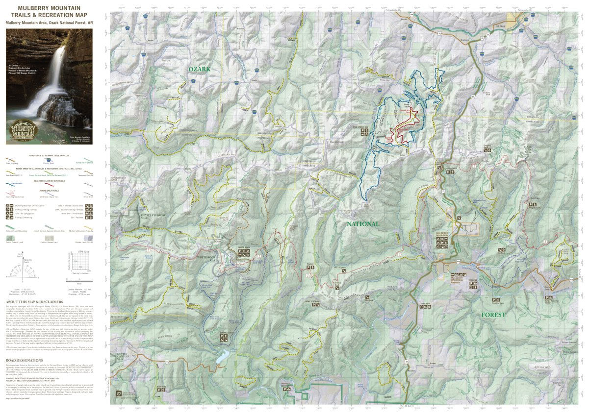 Mulberry Mountain Trails & Recreation Map - Mulberry Mountain ...
