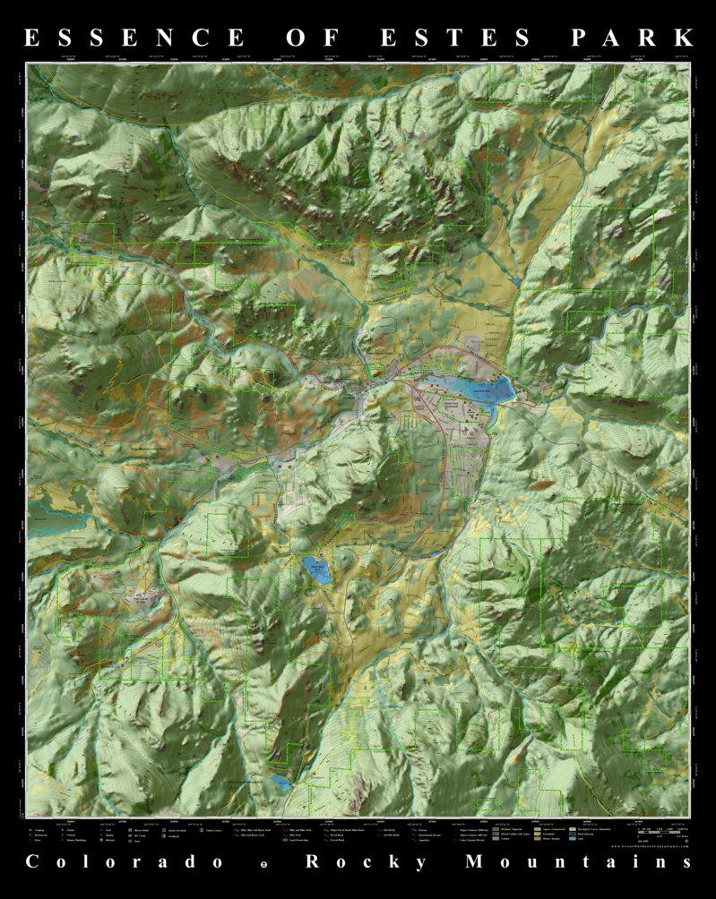 essence of estes park colorado map great outdoors consultants