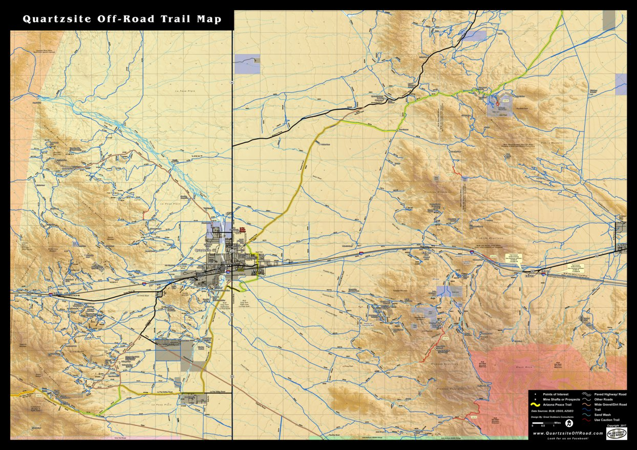 Quartzsite Off-Road Trail Map - Great Outdoors Consultants - Avenza on