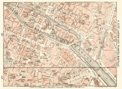 Central Paris districts map: Cité, Jardin des Plantes and Bastille ...