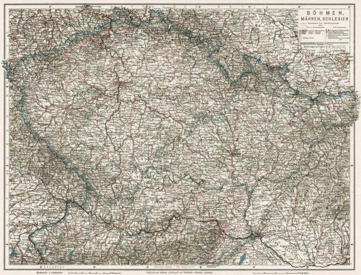 Bohemia, Moravia and Silesia, 1910