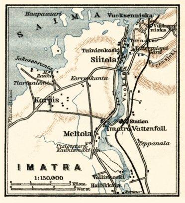 Imatra town plan 1914 Waldin Avenza Maps