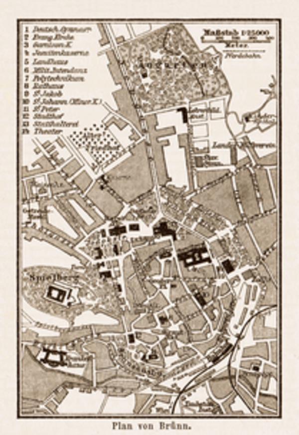 Brünn (Brno) town plan, 1903