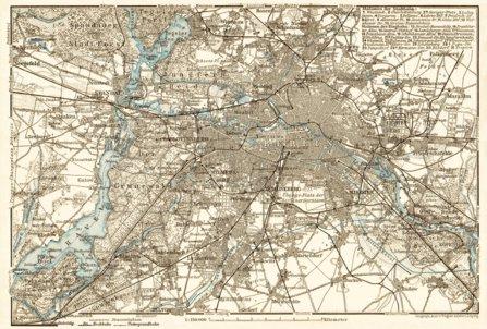 Berlin and environs map, 1910