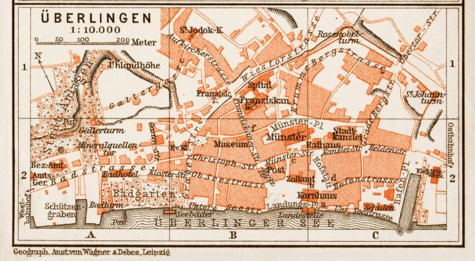 Map Of Uberlingen Germany.Uberlingen Town Plan 1909 Waldin Avenza Maps