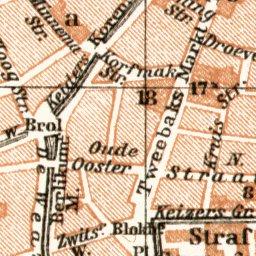 Leeuwarden city map 1909 Waldin Avenza Maps