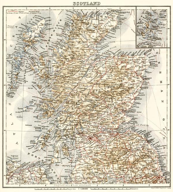 Scotland, general map, 1906