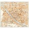 Florence (Firenze) city map, 1898