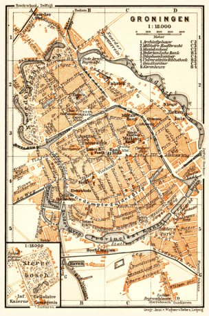 Groningen city map, 1904 - Waldin - Avenza Maps