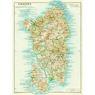 Sardinia (Sardegna) map, 1929