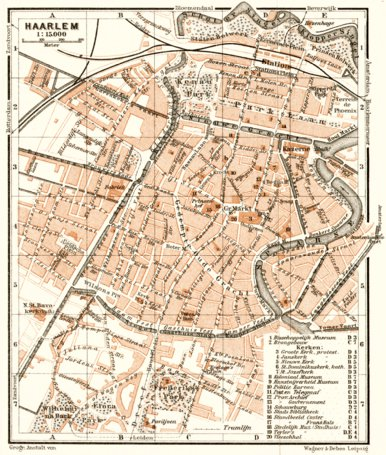 Haarlem city map, 1909 - Waldin - Avenza Maps