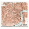 New Orleans city map, 1909
