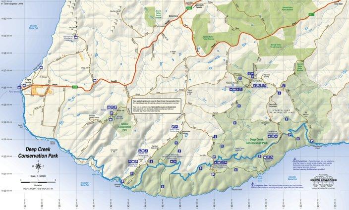 Deep Creek Conservation Park - Carto Graphics - Avenza Maps on