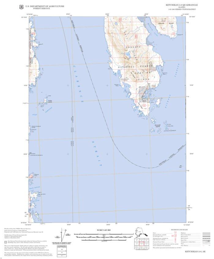 Ketchikan A-6 - Forest Service Topo - Avenza Maps on sitka map, glacier bay map, chevak map, metlakatla map, skagway walking map, alaska map, superior map, juneau map, nanwalek map, anchorage map, lake and peninsula borough map, tongass national forest map, chitina map, tin city map, bethel map, kobuk map, prince william sound map, north pole map, london map, unalakleet map,