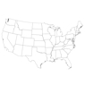 Conterminous US Map Outline