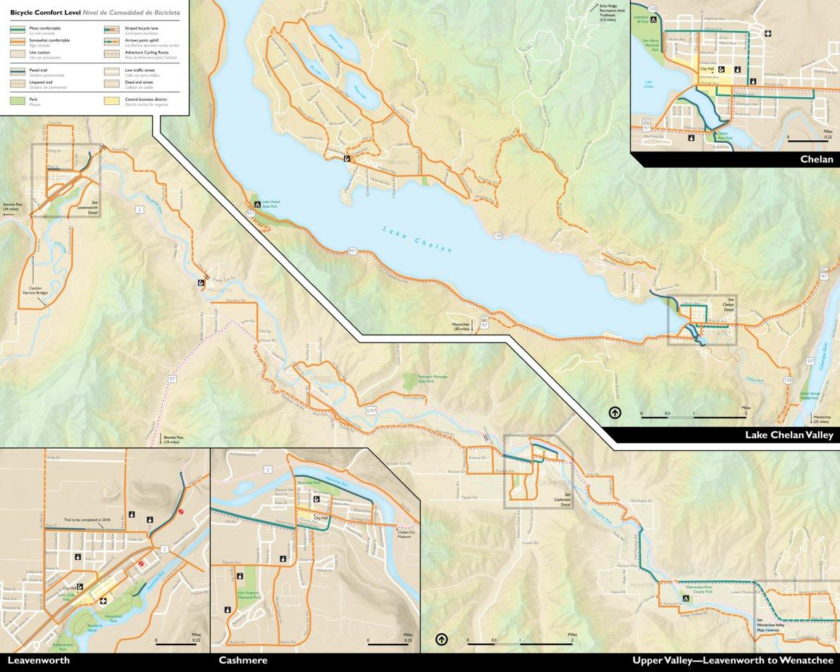 Upper Valley Bike Map—Leavenworth to Wenatchee - Chelan-Douglas ...