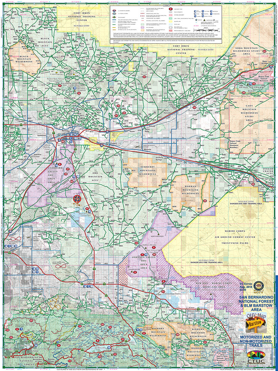 Ctuc San Bernardino National Forest Barstow Blm California Trail Users Coalition Avenza Maps