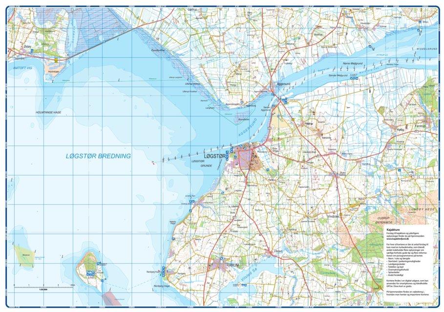 Kajak Limfjorden 1b Compukort Avenza Maps