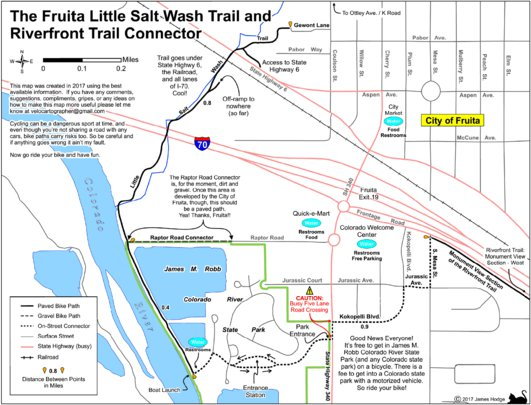 Fruita Little Salt Wash Trail And Riverfront Trail Connector Grand