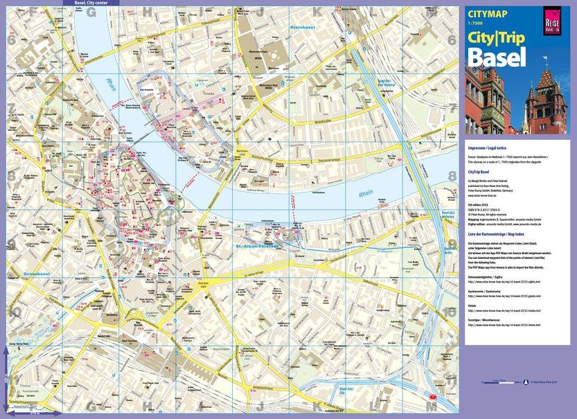 Citymap Basel Reise KnowHow Verlag Peter Rump GmbH Avenza Maps