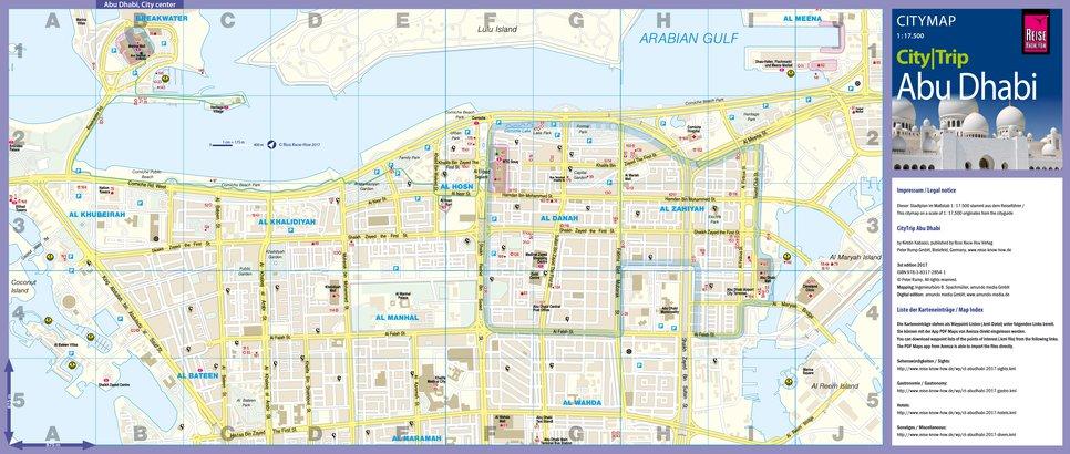 Citymap abu dhabi - Reise Know-How Verlag Peter Rump GmbH - Avenza Maps