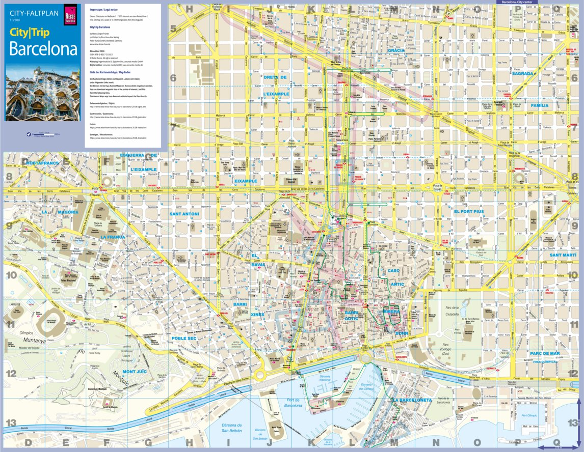 Citymap Barcelona 2018 - Reise Know-How Verlag Peter Rump ... on map of kiev city, map of zhuhai city, map spain city, map of malta city, map of danang city, map of ulan bator city, map of juba city, map of switzerland city, map of bucharest city, map of chiang rai city, map of rio de janeiro city, map of quito city, about barcelona city, map of nagoya city, map of sharjah city, map of toledo city, map of bulawayo city, map of dallas city, map of kunming city, map of queen city,