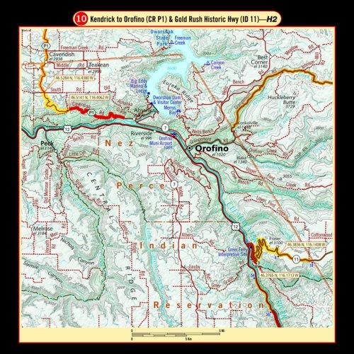 Kendrick Idaho Map.Idaho G1 Series Butler Motorcycle Maps Avenza Maps