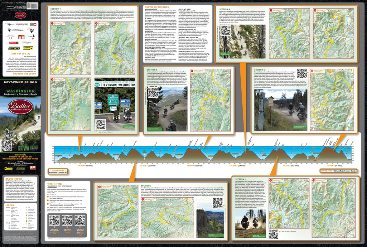 Washington Backcountry Discovery Route Butler Motorcycle Maps