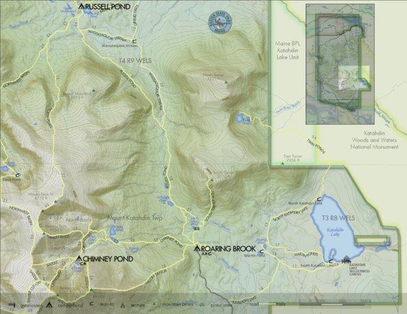 Baxter Park: Chimney to Katahdin Lake - Baxter State Park ...