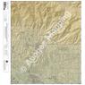 Sabino Canyon, Arizona 7.5 Minute Topographic Map - Color Hillshade
