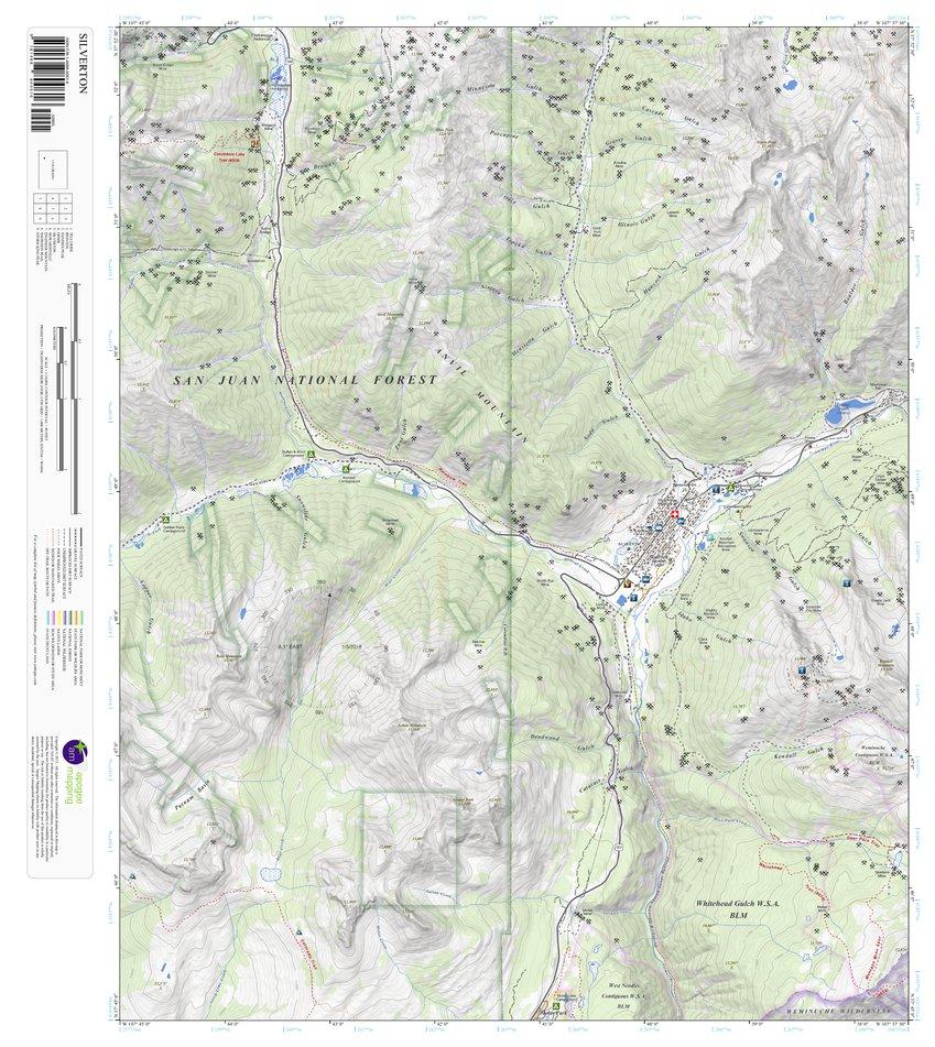 Silverton Colorado 7 5 Minute Topographic Map Apogee Mapping Inc