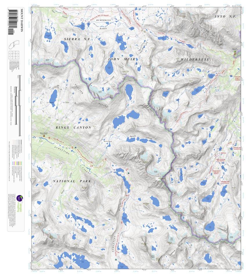 Darwin California Map.Mount Darwin California 7 5 Minute Topographic Map Apogee Mapping