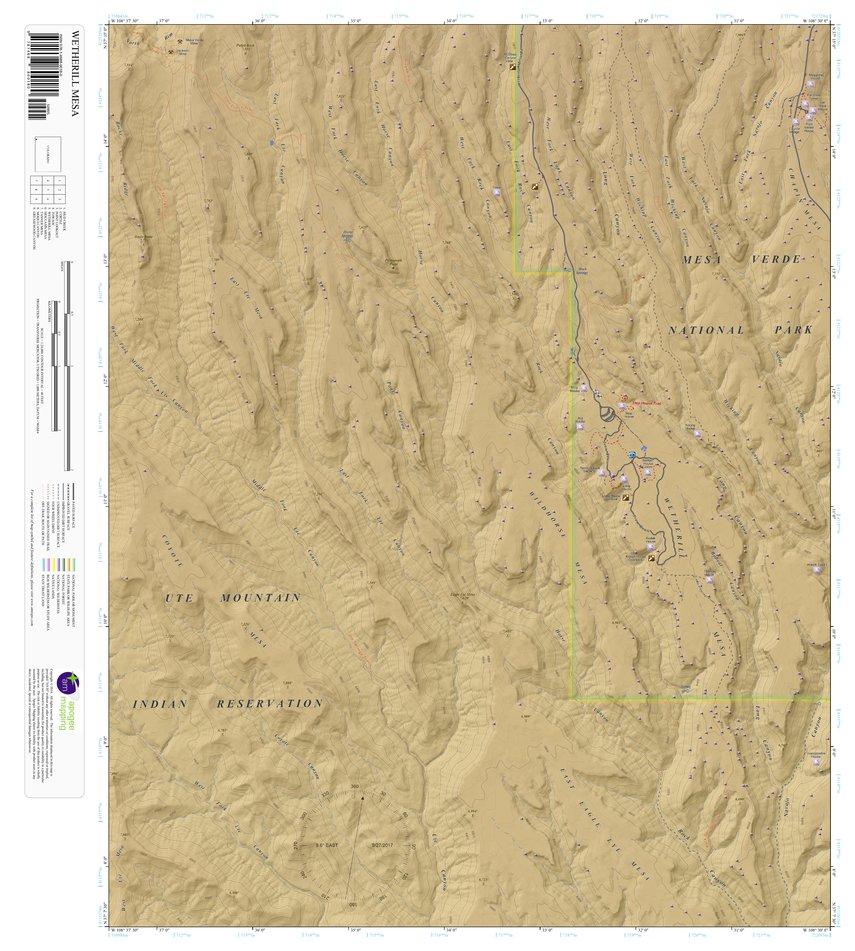 Wetherill Mesa Colorado 7 5 Minute Topographic Map Color