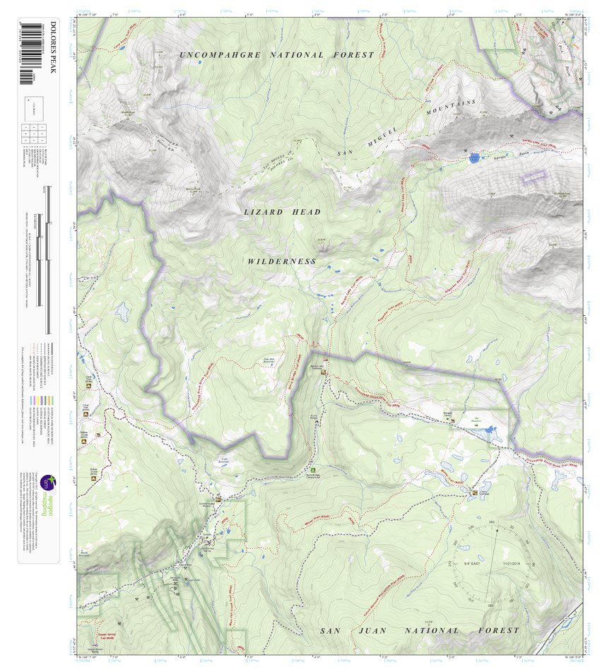 Dolores Peak Colorado 7 5 Minute Topographic Map Apogee Mapping