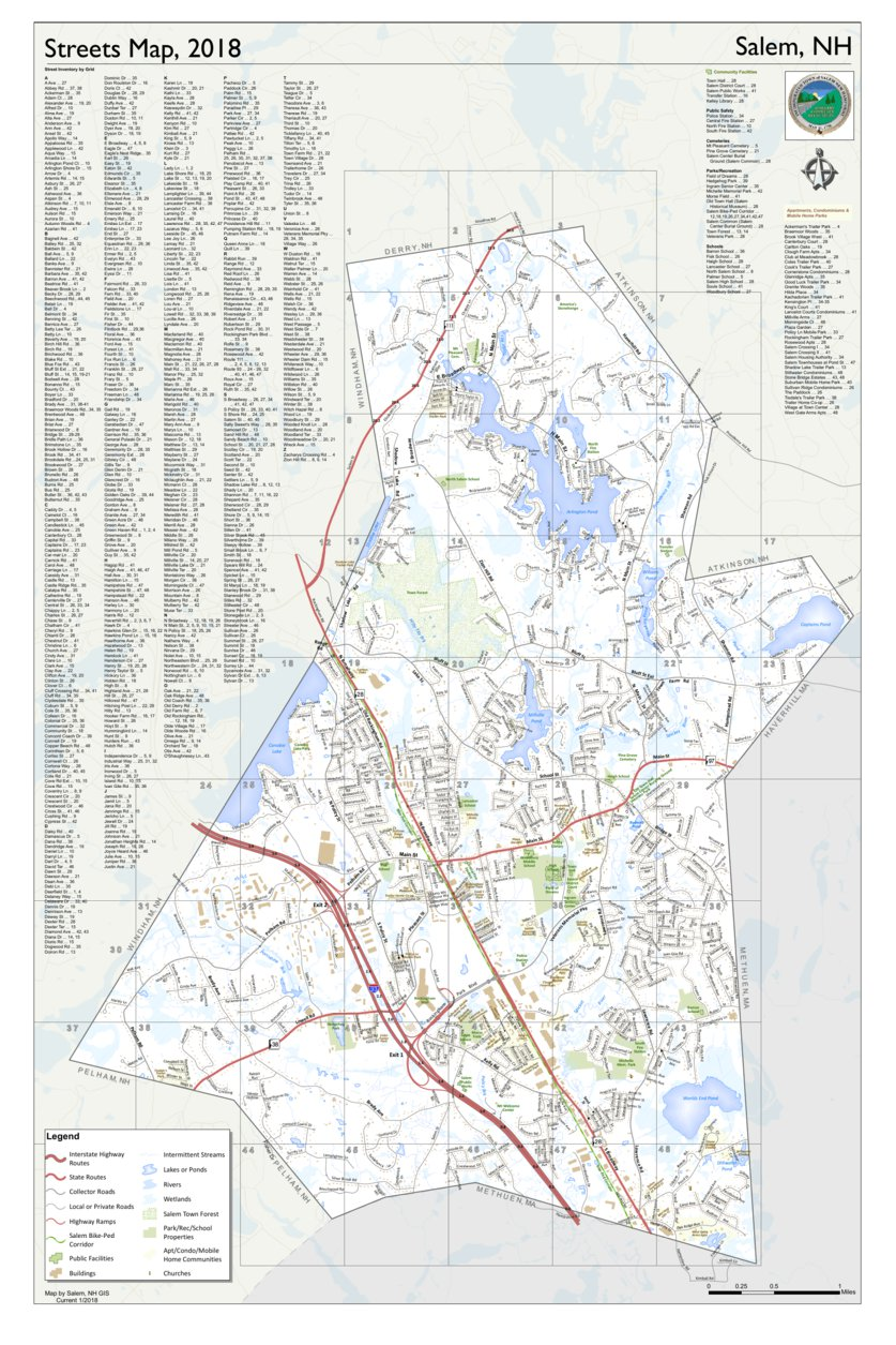 Town of Salem, NH Roads, 2018 - Town of Salem, NH GIS - Avenza Maps