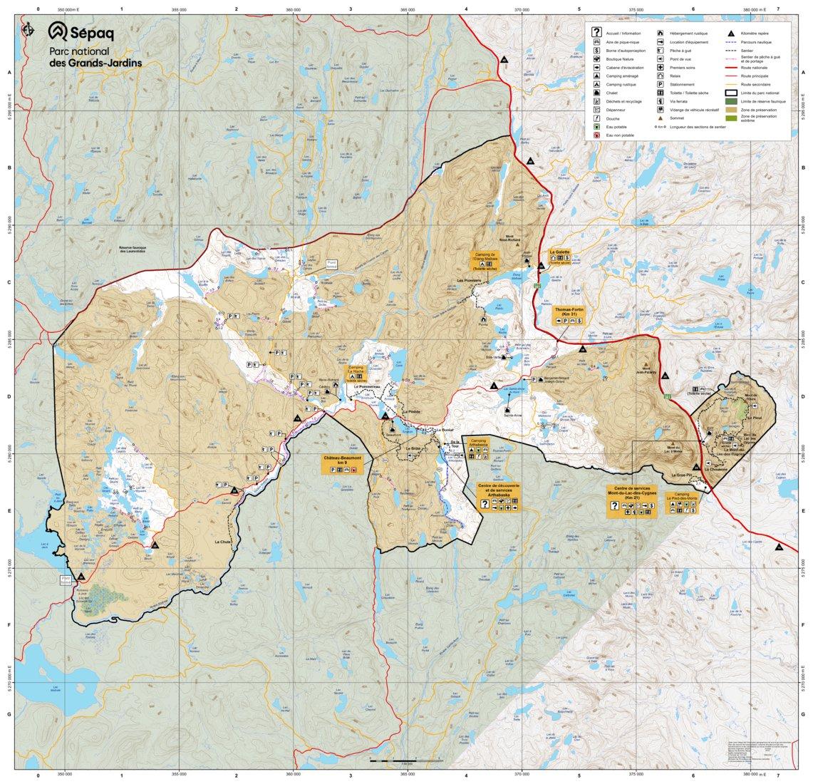 Parc national des Grands-Jardins - Sépaq - Avenza Maps