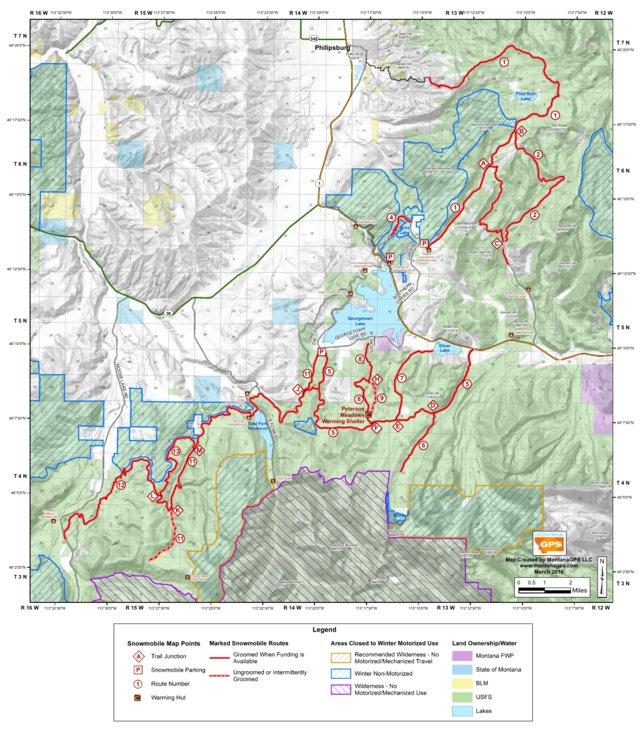 georgetown lake mt map Georgetown Snowmobile Map Montanagps Avenza Maps georgetown lake mt map