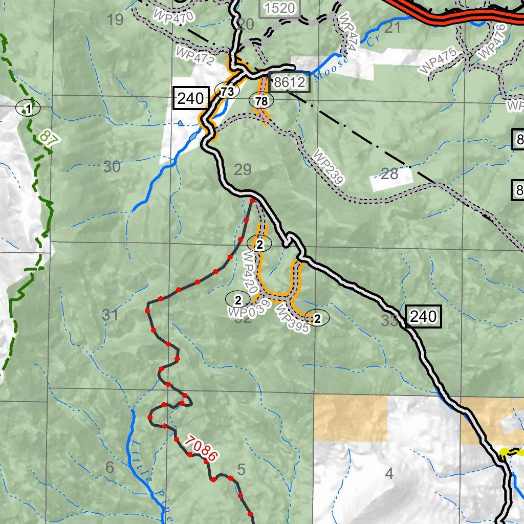 Whitetail Pipestone Motorized Recreation Visitor Map MontanaGPS
