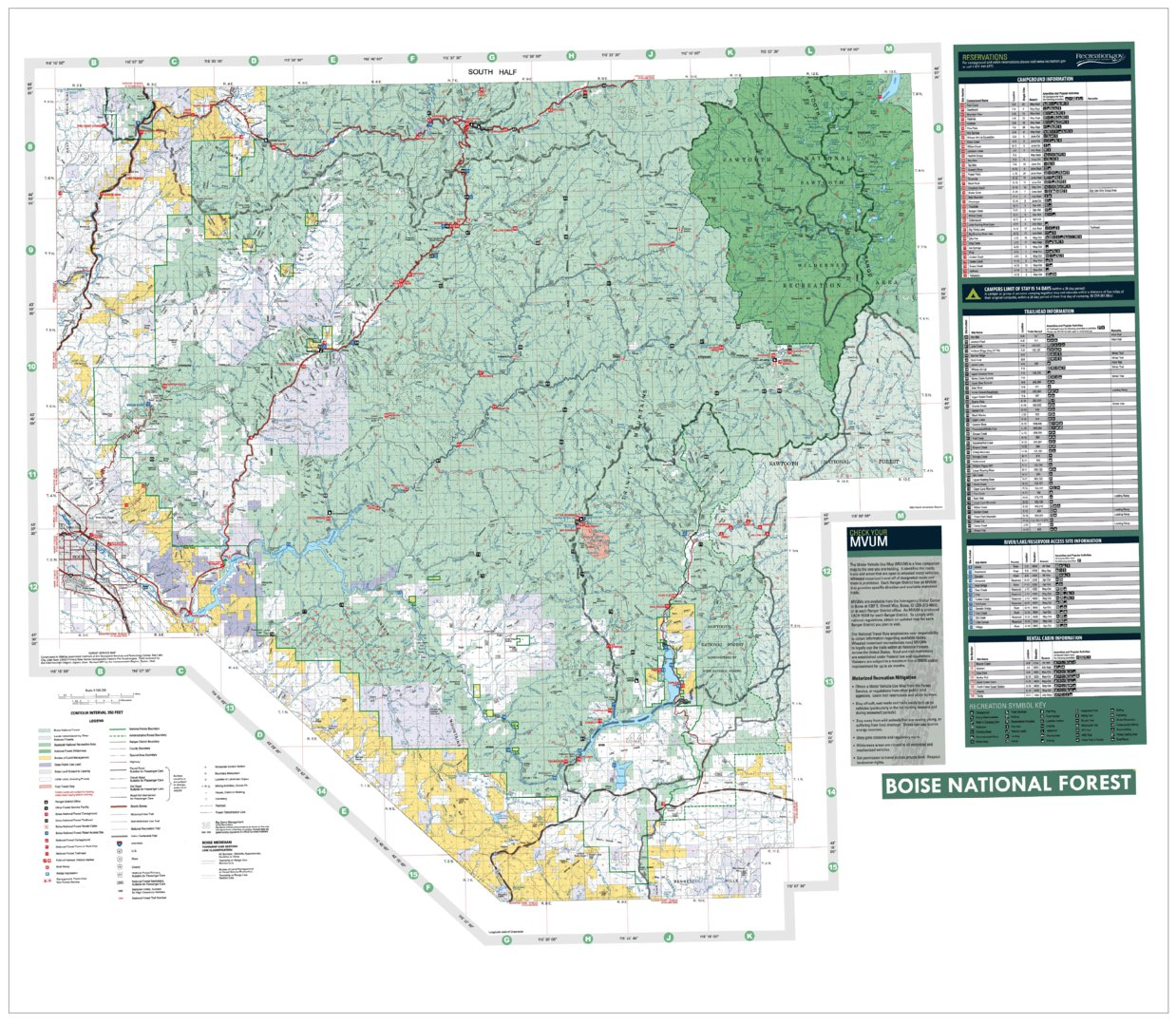 Boise National Forest Visitor Map South Half 2012 - US Forest ...