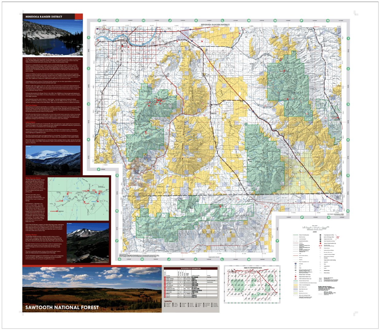 Sawtooth National Forest Minidoka Ranger District Forest ... on minnesota chippewa national forest map, salmon-challis national forest map, city of rocks national reserve map, denali national park and preserve map, caribou national forest map, deerlodge national forest map, gallatin petrified forest map, idaho map, lewis and clark national forest map, mt. baker national forest map, bering land bridge national preserve map, butte valley national grassland map, gallatin national forest map, cache national forest map, custer national forest map, sawtooth range idaho, sawtooth wilderness, green mountain national forest map, cda national forest map, magic valley mall map,