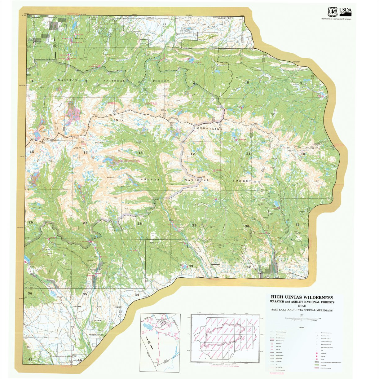 High Uintas Wilderness East Half Ashley NF 1994 - US Forest Service ...