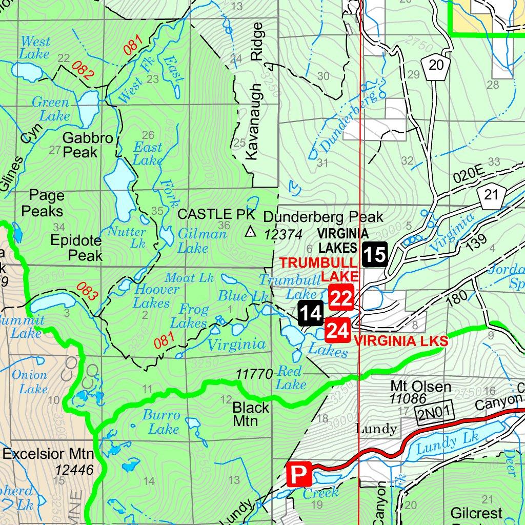 HumboldtToiyabe National Forests Bridgeport Ranger District West