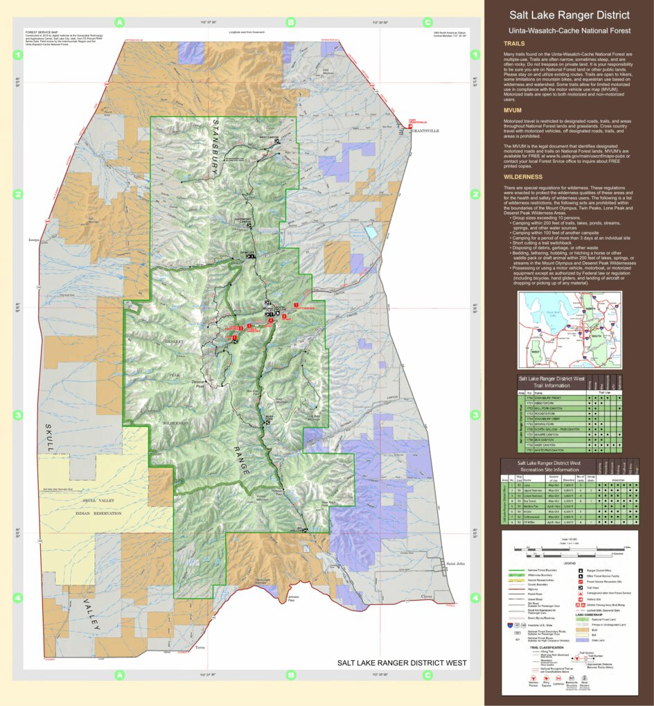 Uinta-Wasatch-Cache NF Salt Lake Ranger District Deseret ...