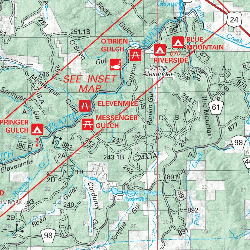 Pike National Forest Map Pike National Forest Visitor Map   2010   US Forest Service R2  Pike National Forest Map