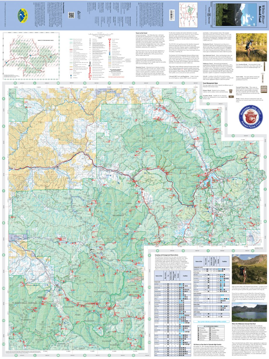 White River National Forest Visitor Map (East) - 2013 - US Forest ...