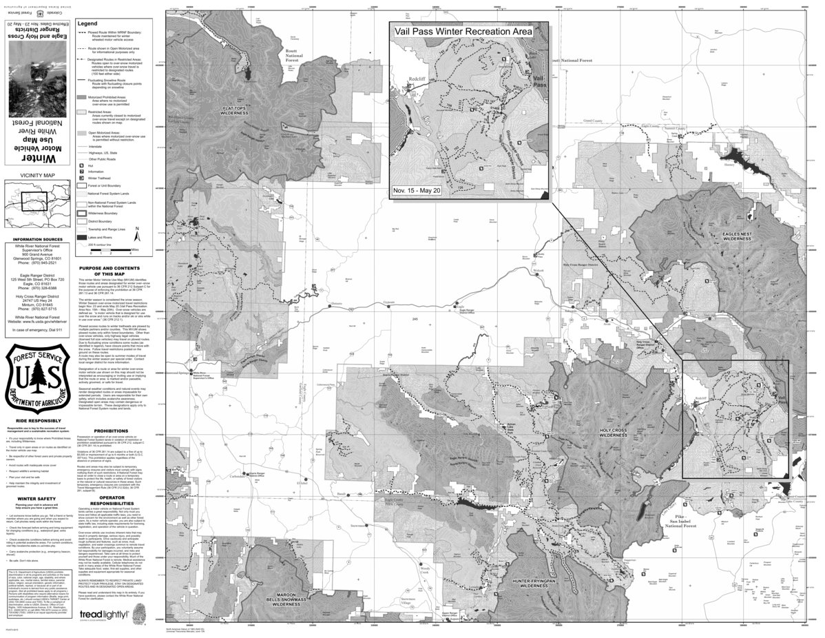White River NF - Eagle & Holy Cross Ranger Districts - Winter MVUM ...