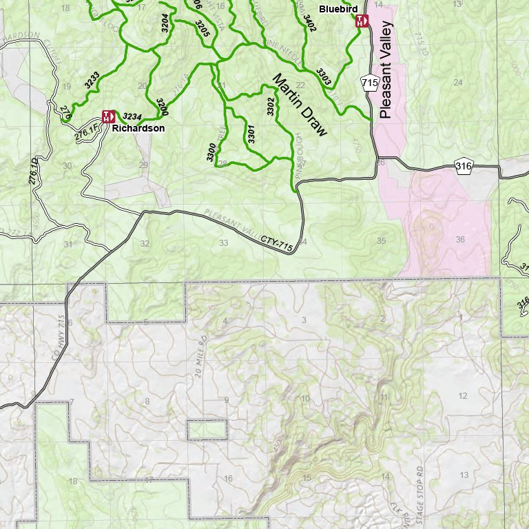 Black Hills National Forest Recreation Map Hell Canyon